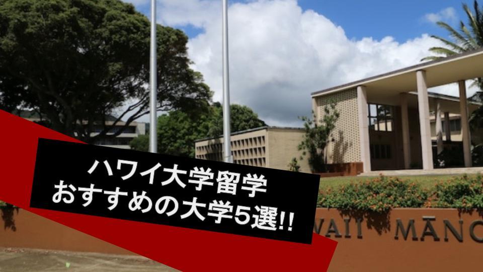 ハワイ大学留学のメリットやおすすめのハワイ大学5選をご紹介!!